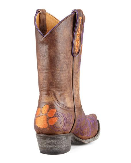 Clemson Short Gameday Boots, Brass
