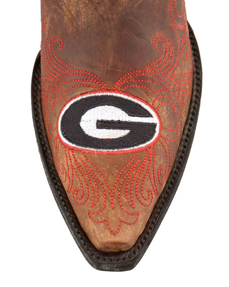 University of Georgia Short Gameday Boots, Brass