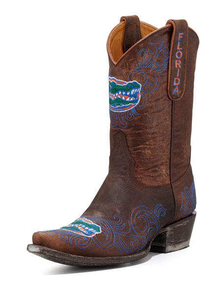 University of Florida Short Gameday Boots, Brass