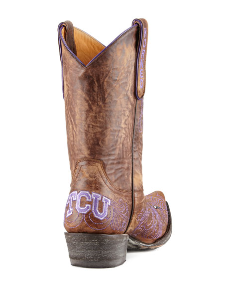 TCU Short Gameday Boot, Brass