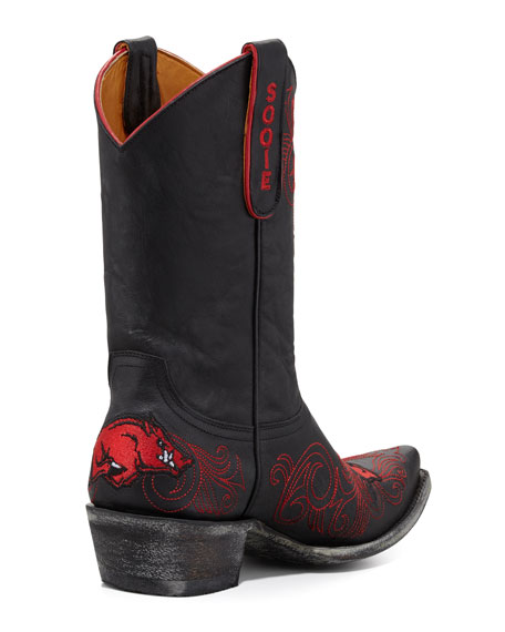University of Arkansas Short Gameday Boot, Black