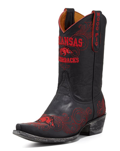 University of Arkansas Short Gameday Boot, Black