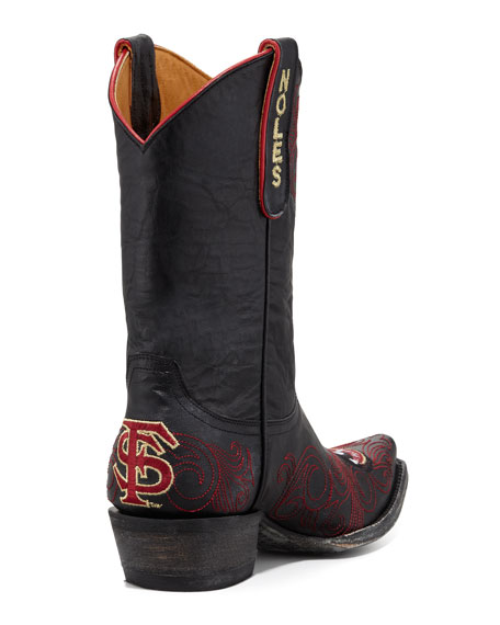 Florida State Short Gameday Boots, Black