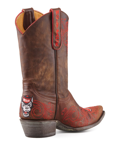 NC State Short Boot, Brass