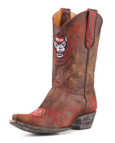 Gameday Boot Company NC State Short Boot, Brass