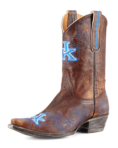 University of Kentucky Short Gameday Boots, Brass