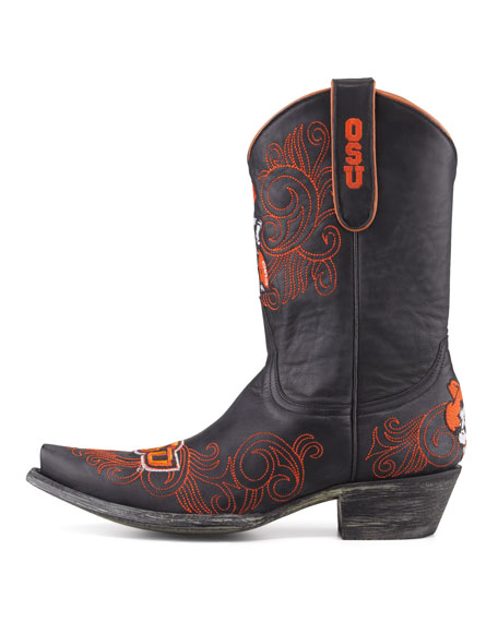 Oklahoma State Short Gameday Boots, Black