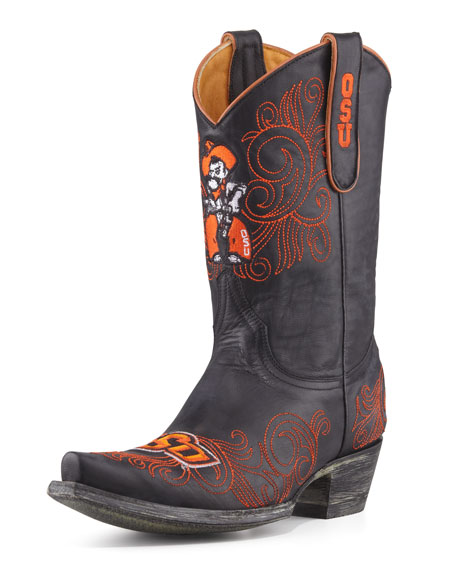 Oklahoma State Short Gameday Boots Black