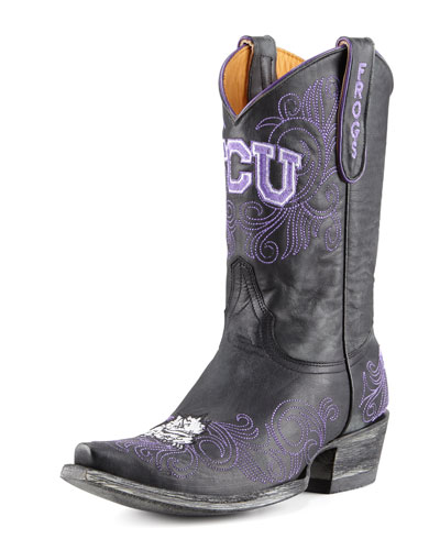 TCU Short Gameday Boots, Black
