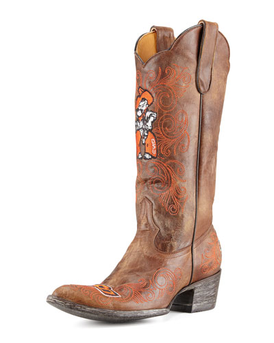 Oklahoma State Tall Gameday Boots, Brass