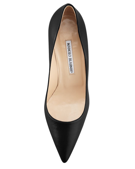 BB Leather 50mm Pump, Black (Made to Order)