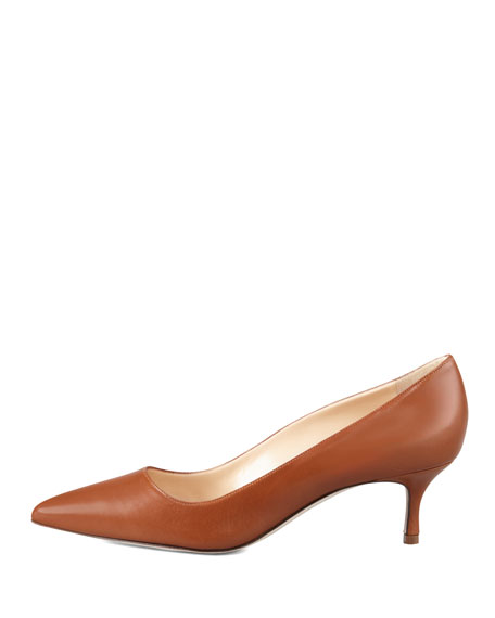 BB Leather 50mm Pump, Caramel