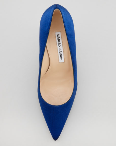 BB Satin 90mm Pump, Cobalt