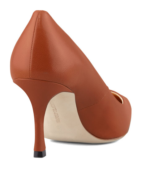 BB Leather 70mm Pump, Caramel