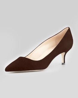 Manolo Blahnik BB Suede 50mm Pump, Brown