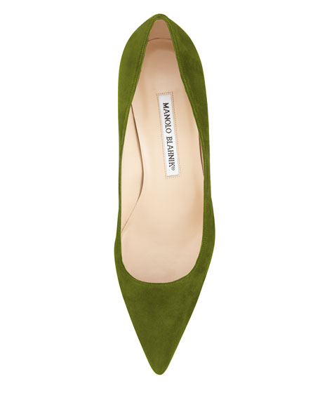 BB Suede 50mm Pump, Green
