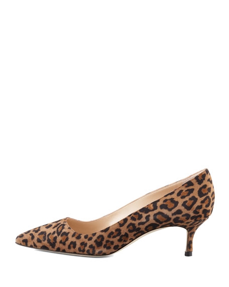 BB Suede 50mm Pump, Leopard (Made to Order)