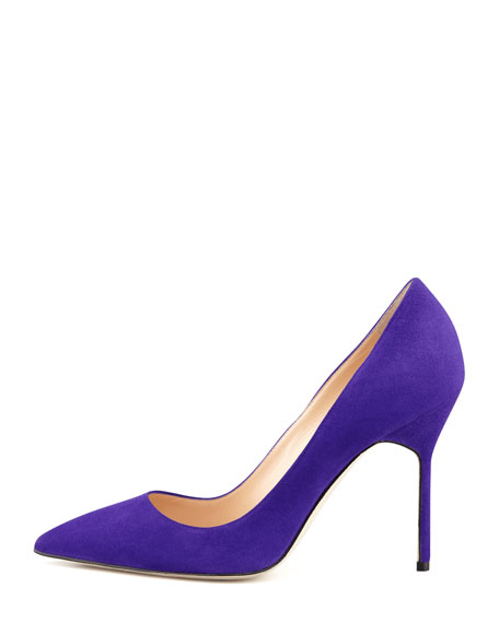 BB Suede 105mm Pump, Purple