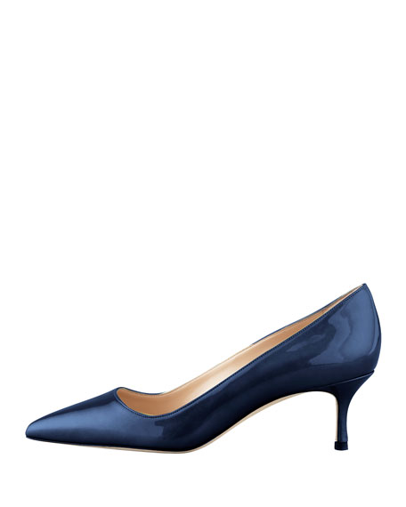 BB Shimmer Patent 50mm Pump, Navy (Made to Order)