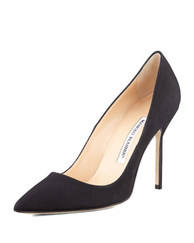 Manolo Blahnik BB Crepe 105mm Pump, Black