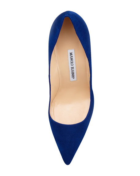 BB Suede 105mm Pump, Cobalt (Made to Order)