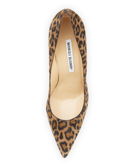 BB Suede 105mm Pump, Leopard (Made to Order)
