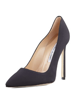 Manolo Blahnik BB Crepe 115mm Pump, Black (Made to Order)