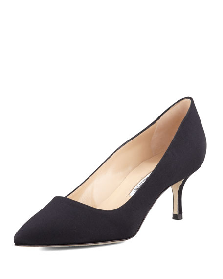 BB Crepe 50mm Pump, Black (Made to Order)