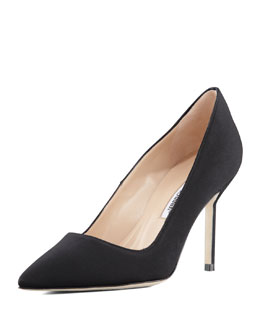 Manolo Blahnik BB Crepe 90mm Pump, Black
