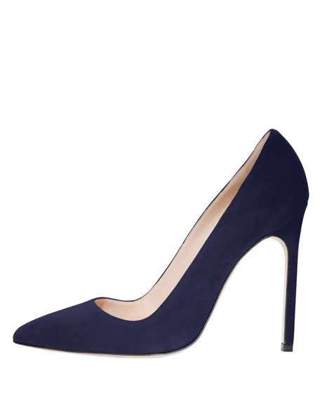 BB Suede 115mm Pump, Navy