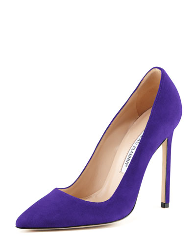 Manolo Blahnik BB Suede 115mm Pump, Purple