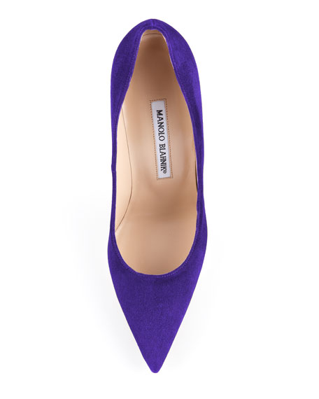 BB Suede 115mm Pump, Purple