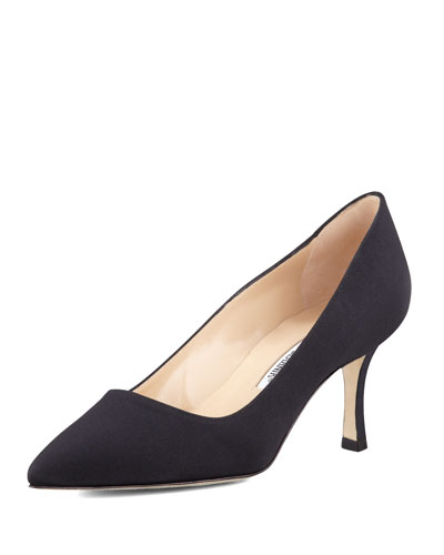 Manolo Blahnik BB Crepe 70mm Pump, Black
