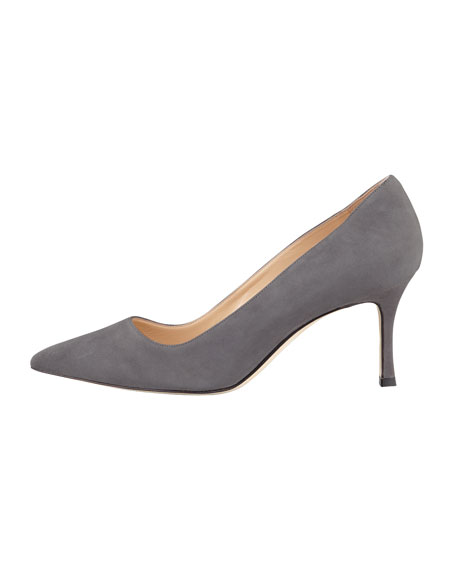 BB Suede 70mm Pump, Purple