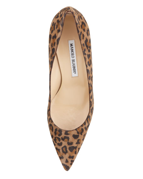 BB Suede 70mm Pump, Leopard (Made to Order)