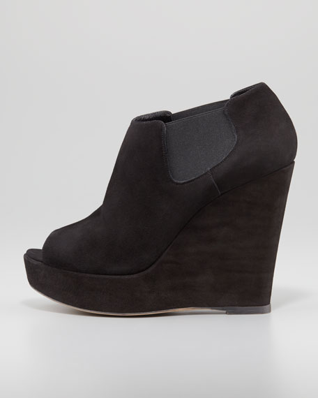 Kristen Peep-Toe Wedge Bootie