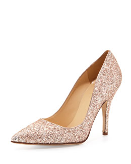 kate spade new york licorice too glittered pointy pump