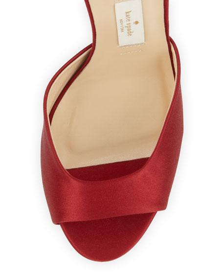 kate spade new york chrissie satin bow d'orsay sandal, red