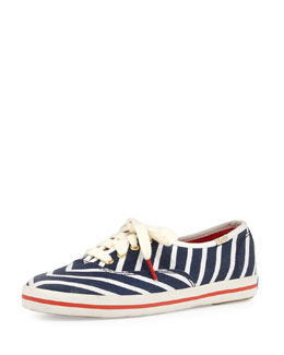kate spade new york Keds Kick Striped Sneaker, Navy