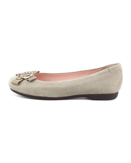 Bunny Sparkle Ballerina Flat, Camel