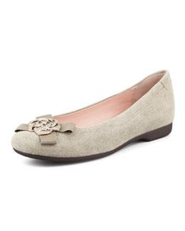 Taryn Rose Bunny Sparkle Ballerina Flat, Camel