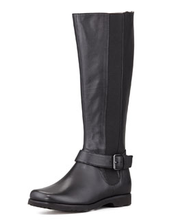 Taryn Rose Janai Gored Riding Boot, Black