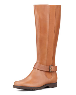 Taryn Rose Janai Gored Riding Boot, Tan