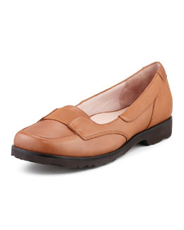 Taryn Rose Jannah Leather Slip-On, Tan