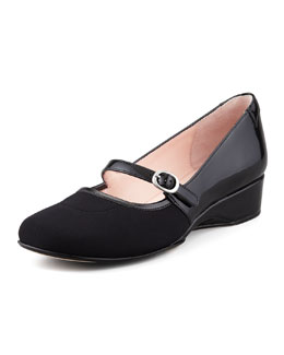 Taryn Rose Kandy Micro-Wedge Mary Jane, Black