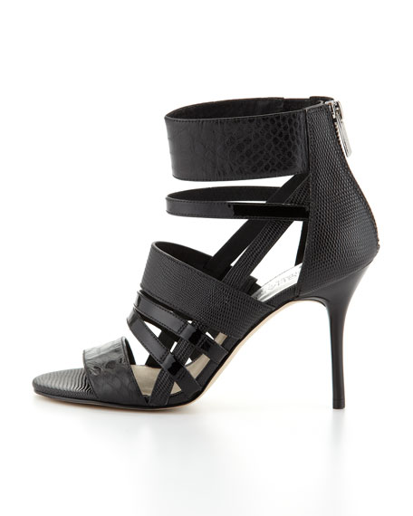Shiloh Mixed-Media Strappy Sandal