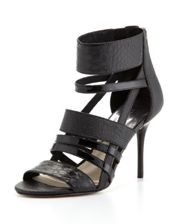 MICHAEL Michael Kors  Shiloh Mixed-Media Strappy Sandal
