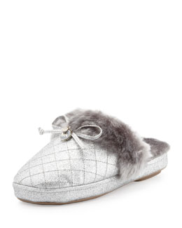 MICHAEL Michael Kors  Carter Shimmery Plush Slipper