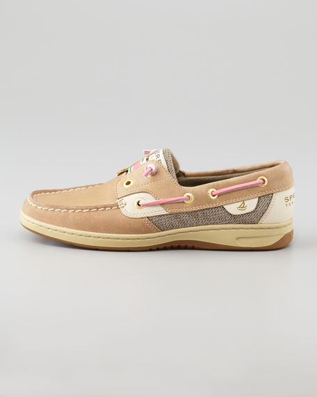Bluefish Tie-Free Boat Shoe, Linen