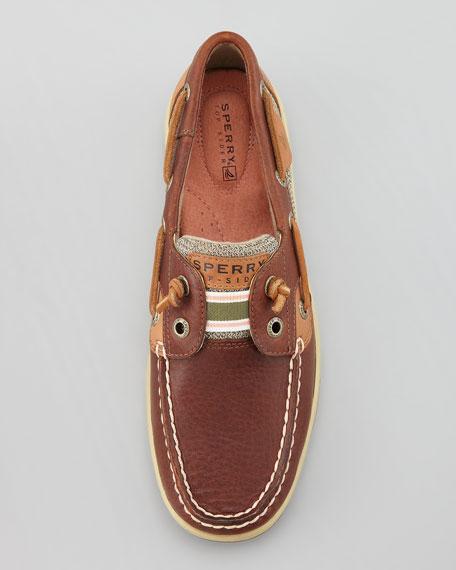 Bluefish Tie-Free Boat Shoe, Tan